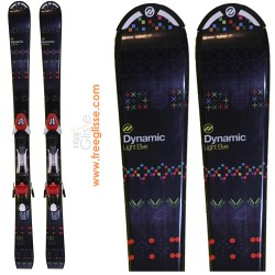Ski junior Dynamic Light Elve noir + fixation