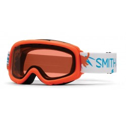 Masque de Ski  Smith Gambler Neon orange dinos