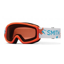 Masque de Ski Smith Sidekick Neon orange dinos