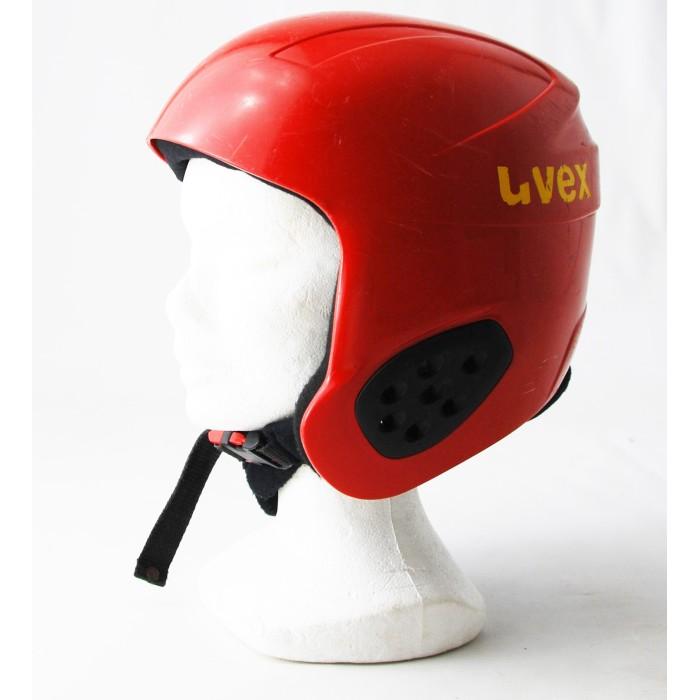 Casque ski occasion Uvex rouge/jaune