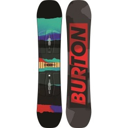 Snowboard Garçon NEUF Burton Process Smalls Noir/rouge/bleu + Fixation Mission Smalls Youth