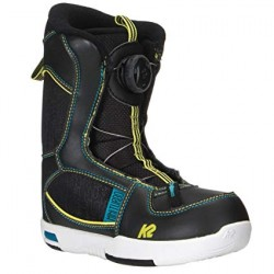 Boots de snowboard K2 Mini Turbo Boa Junior Noir/Bleu/Jaune