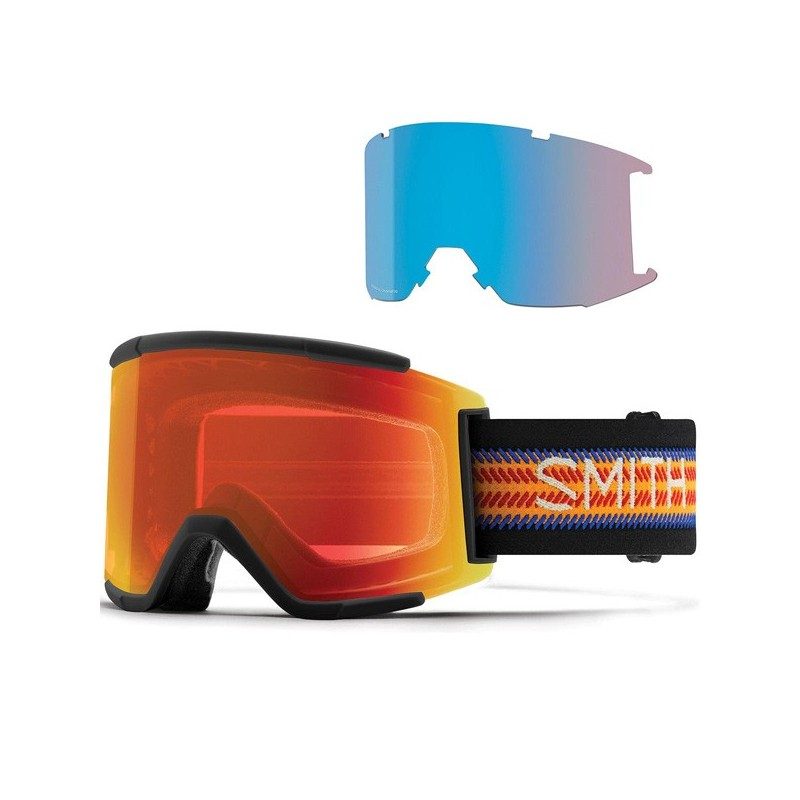 Masque de Ski Adulte Smith Squad XL Noir 5b
