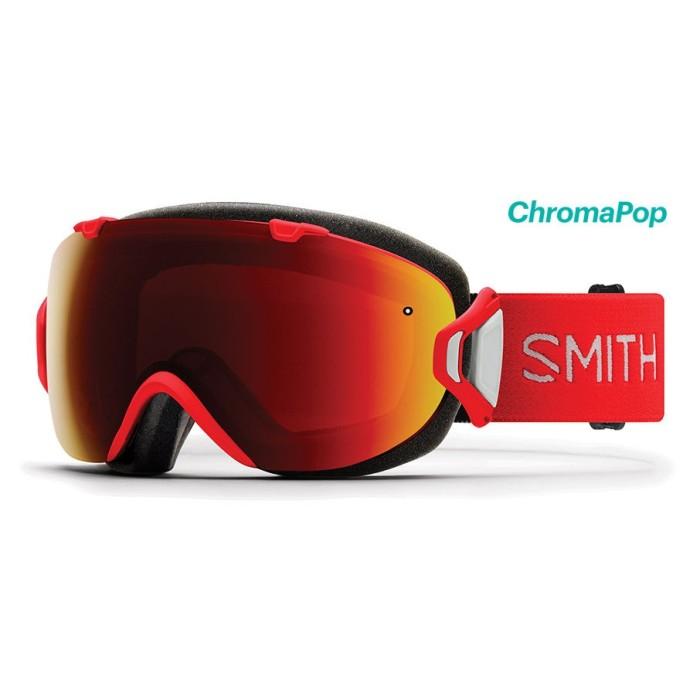 Máscara de esquí para mujer Smith I / OS roja 38b