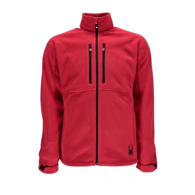 Veste Homme SPYDER essential fleece rouge 10345