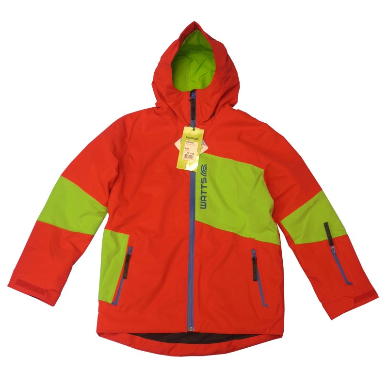 Veste Ski Junior WATTS Gonne 8060 rouge (empiècement vert)