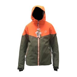 Watts Ganzo khaki/orange Junior Skijacke 10368