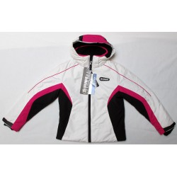 Chaqueta de esquí chica niñas COLMAR occidental blanco (fuschia rosa capucha fuschia) 10404