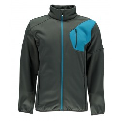 Softshell Herren SPYDER Bandit Full Grey/Blue Zip 10410