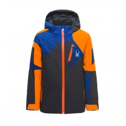 Veste Ski SPYDER Garçon Leader Jacket bleu/orange/noir 10451