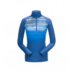 Haut technique SPYDER femme showcase mtn fade zip t-neck bleu 10486