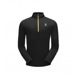 Haut technique SPYDER homme limitless solid zip t-neck noir 10496