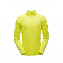Haut technique SPYDER homme ace zip t-neck jaune 10498