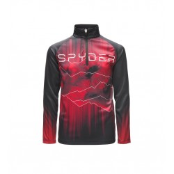 Haut technique SPYDER limitless rising noir/rouge 10502