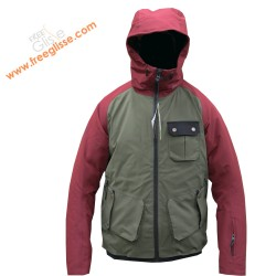 Watts Gatte Khaki und Red Junior Skijacke 10663