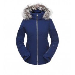 SPYDER Diamond Real Fur Women's Ski Jacket White