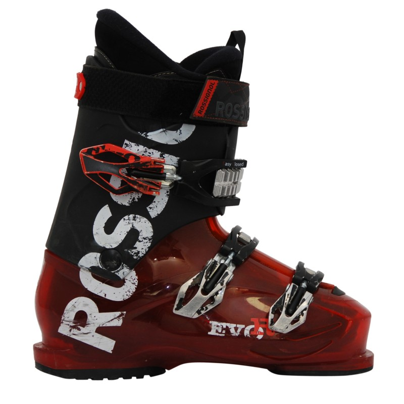 Chaussures ski occasion Rossignol Evo R rouge/noir qualité A