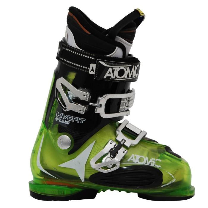 Used Atomic live fit ski boots plus green translu