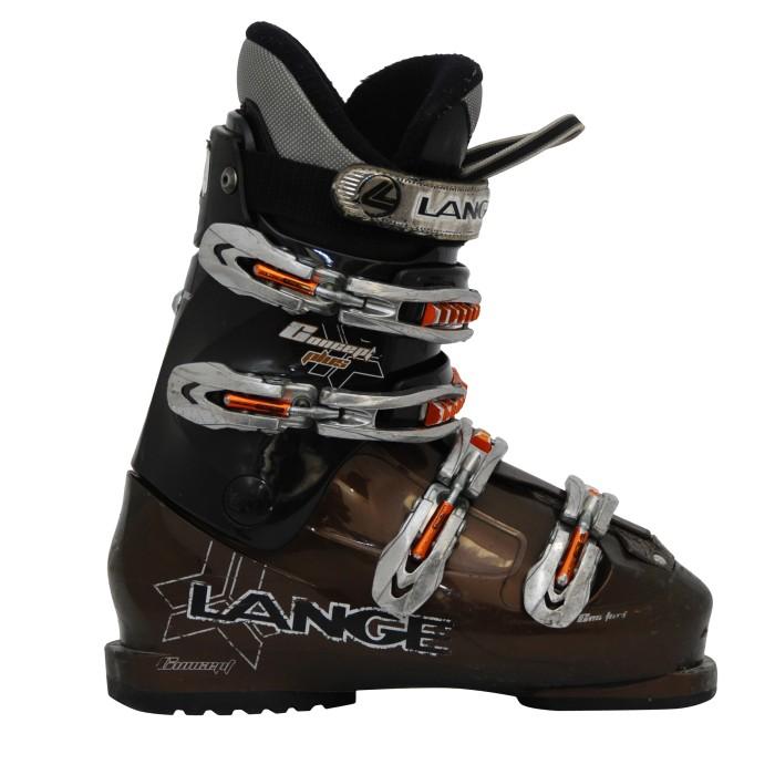 concetto Lange più scarpone da sci casual marrone e nero