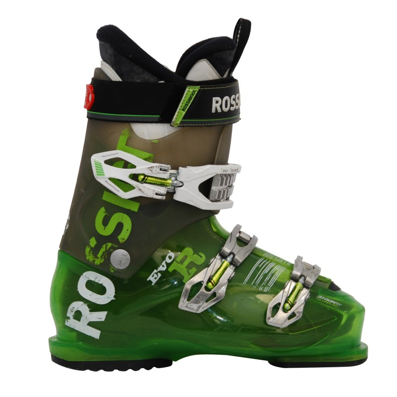 Chaussure de ski occasion Rossignol Evo R vert qualité A