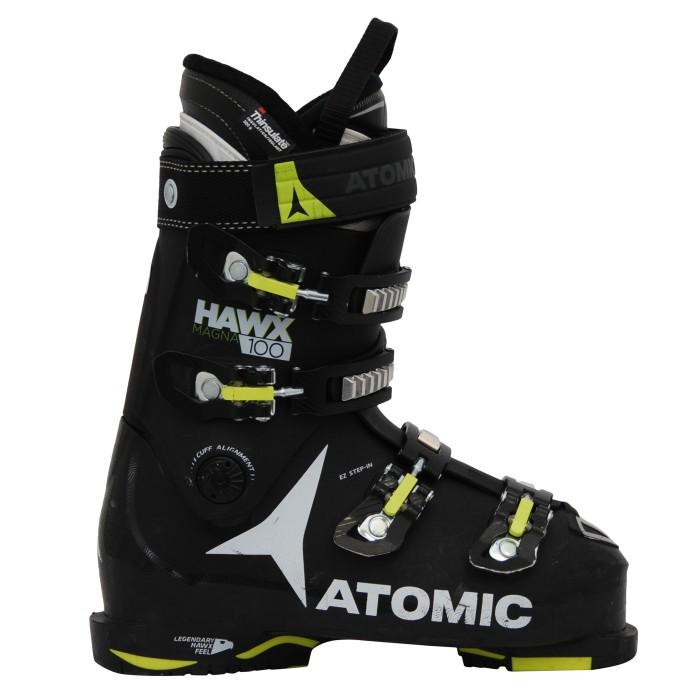 Chaussures de ski occasion Atomic hawx magna 100 noir jaune