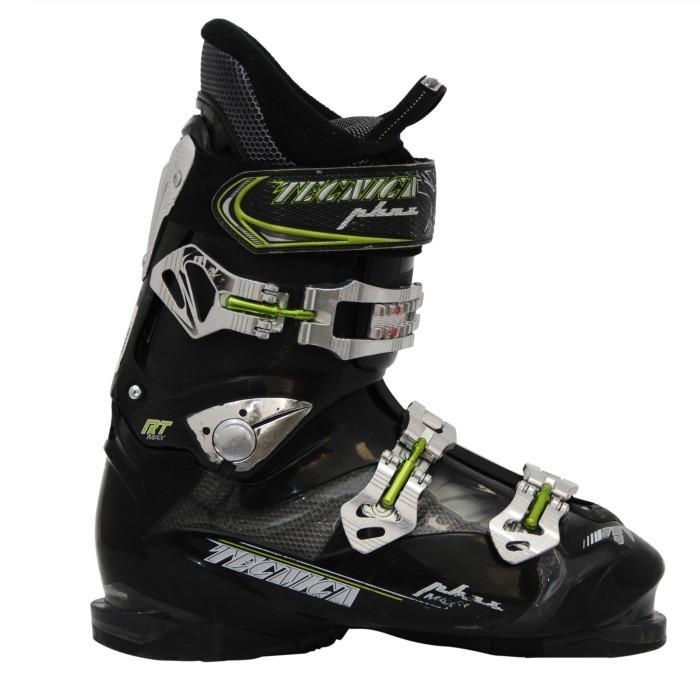 Used Tecnica RT max ski boots black / green