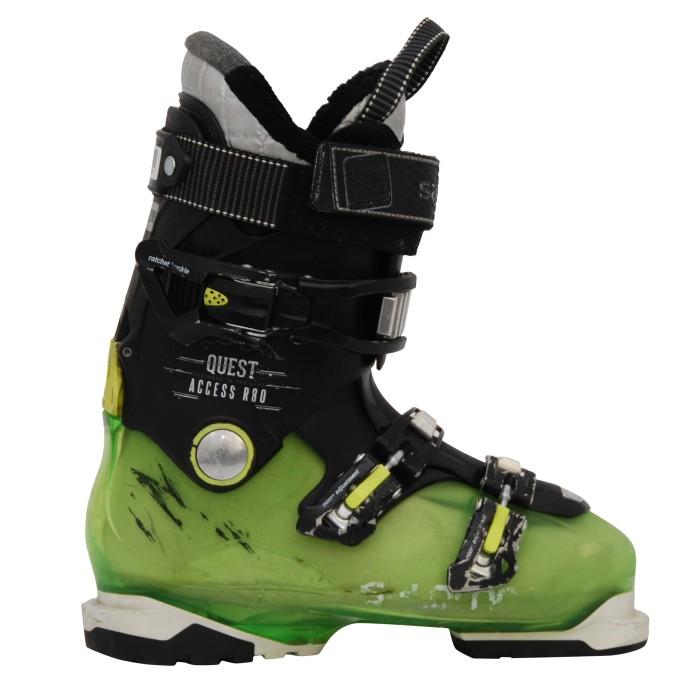 Chaussures de ski occasion Salomon Quest access R80 noir vert