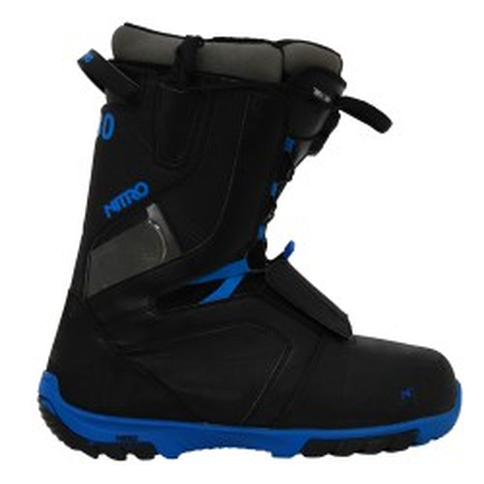 Gebrauchte Snowboardstiefel Nitro TlS schwarz blau