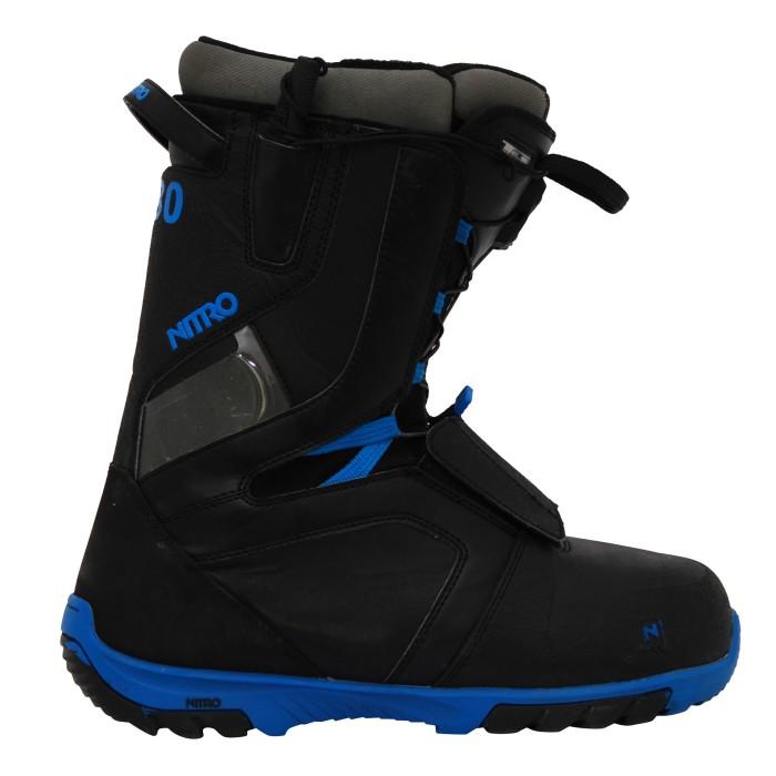 Boots occasion de snowboard occasion Nitro rental TlS noir bleu