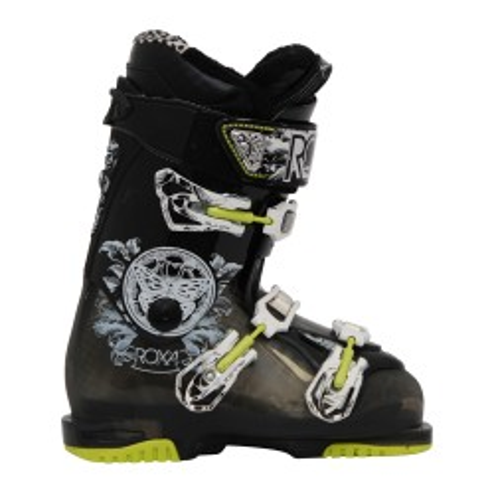 Roxa Kate 7.5 amarillo negro usado bota de esquí