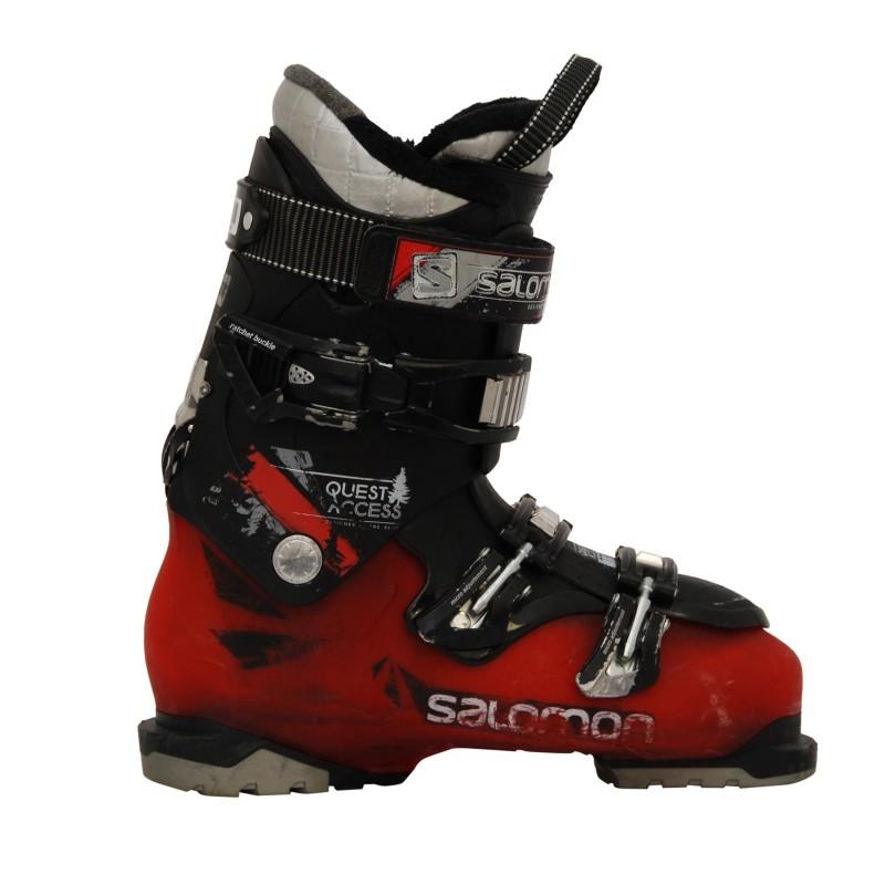 Chaussures de ski occasion Salomon Quest acces 80 noir/rouge qualité A