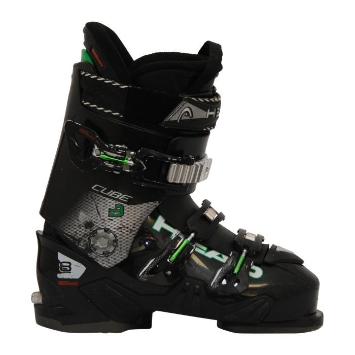 Zapato de esquí Ocasión Cabeza cubo 3 8 negro verde