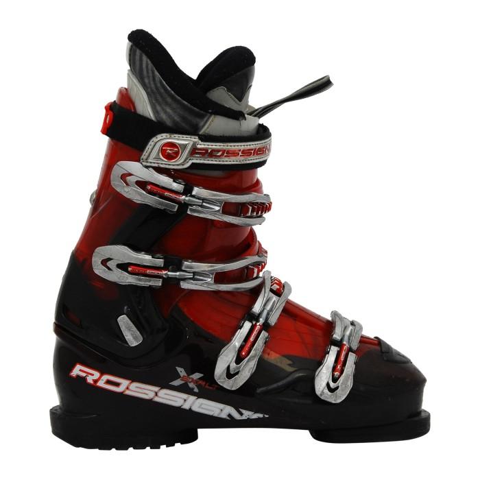 Adult used ski boots Rossignol exalts red/black