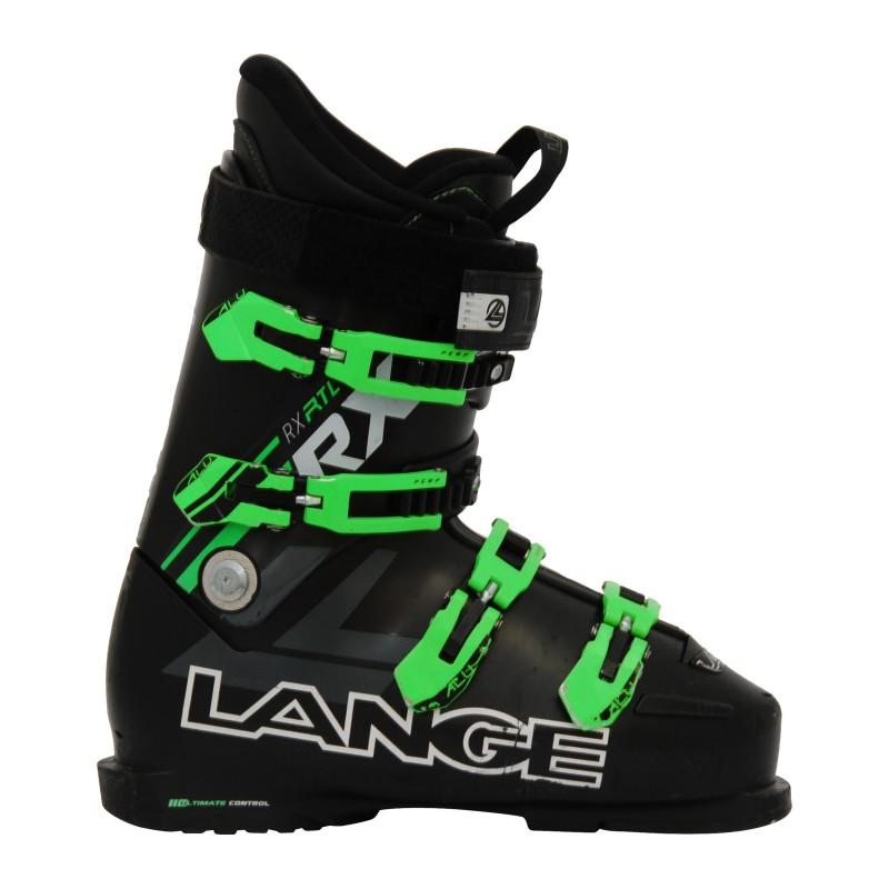 Chaussure de ski occasion Lange RX RTL noir et vert qualité A
