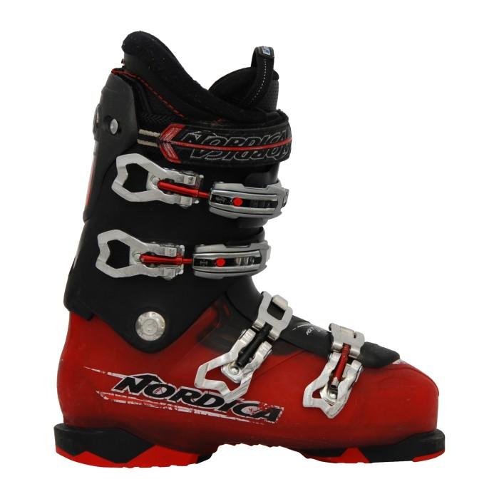 Bota de esquí blanco rojo nórdico NXT N3R usado negro