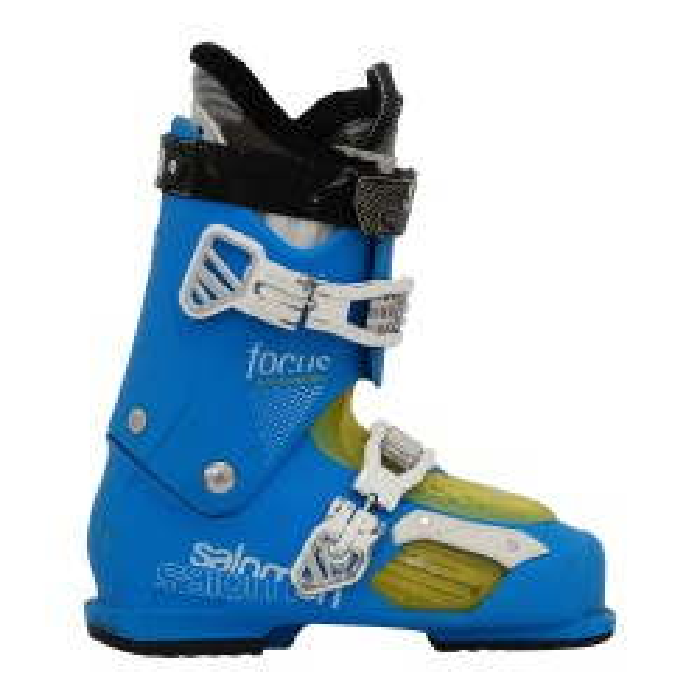 Bota de esquí usada Salomon focus azul