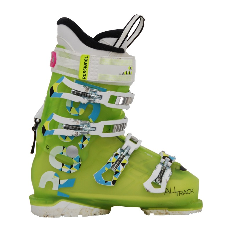 Chaussure de ski occasion Rossignol All track jaune qualité A