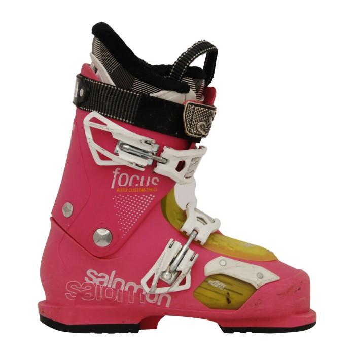bota de esquí rosa con foco Salomon