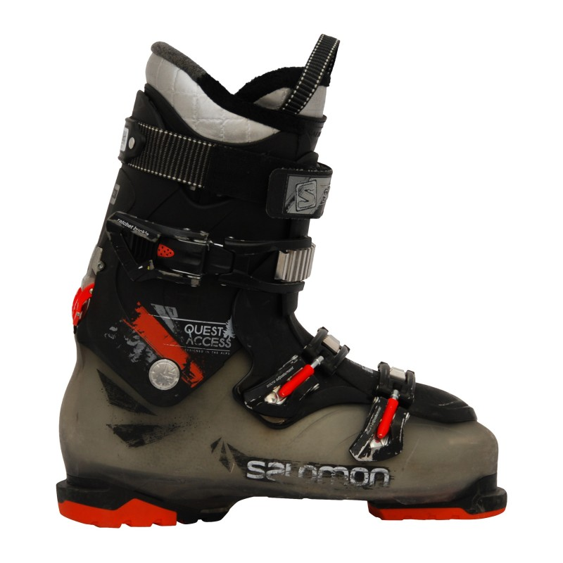 Chaussures de ski occasion Salomon Quest access 880 translucide/orange