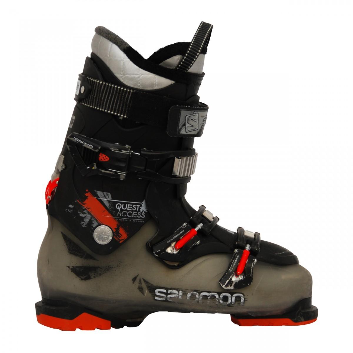 Chaussures de ski occasion Salomon idol 880 blanc marron