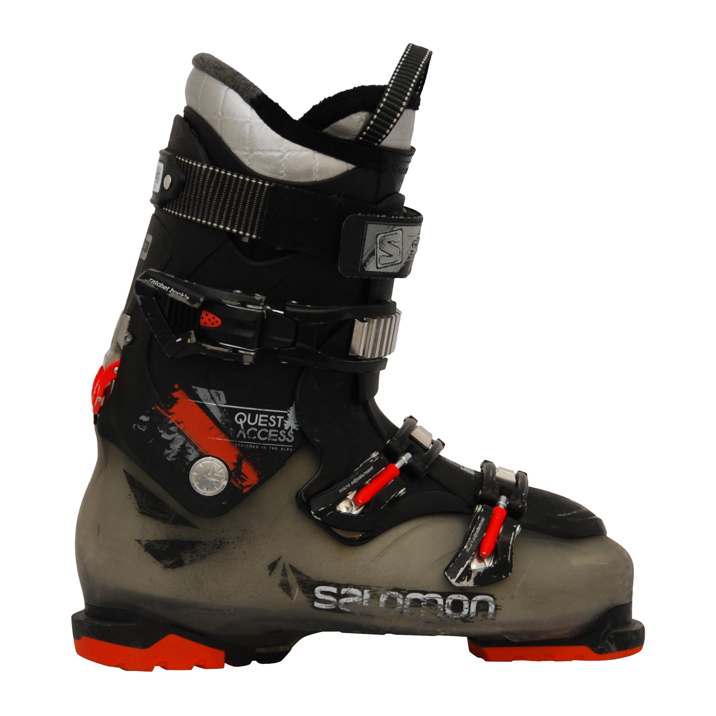 Chaussures de ski occasion Salomon Quest access 880 translucideorange