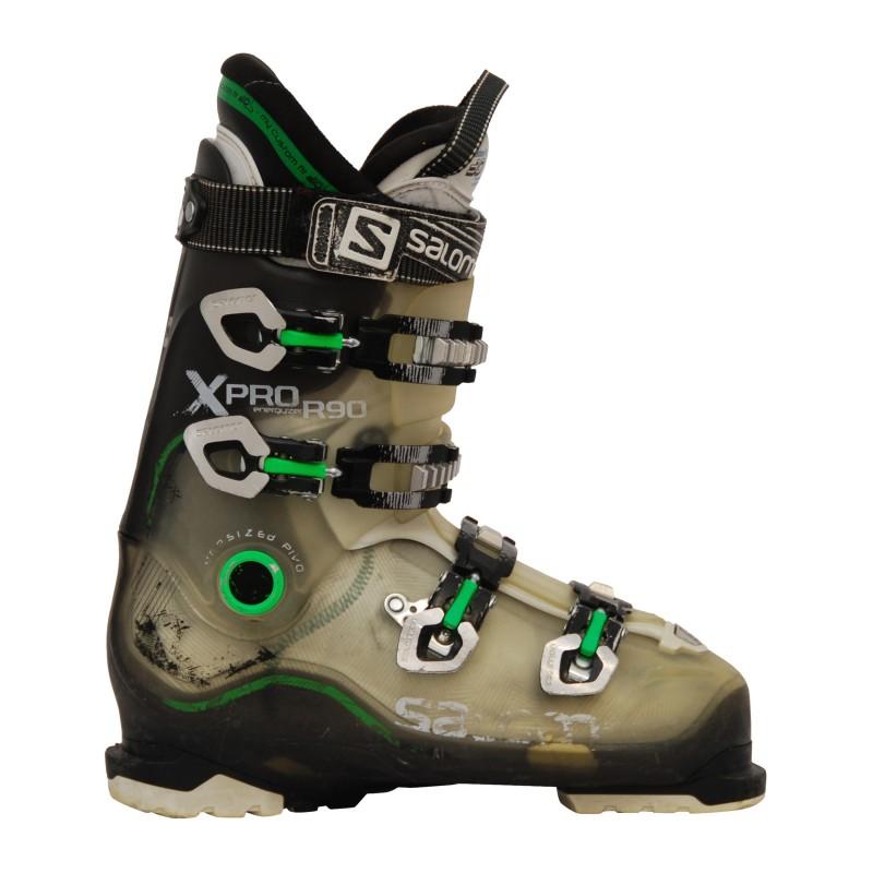 Chaussure ski occasion Salomon Xpro R90 trans/vert qualité A
