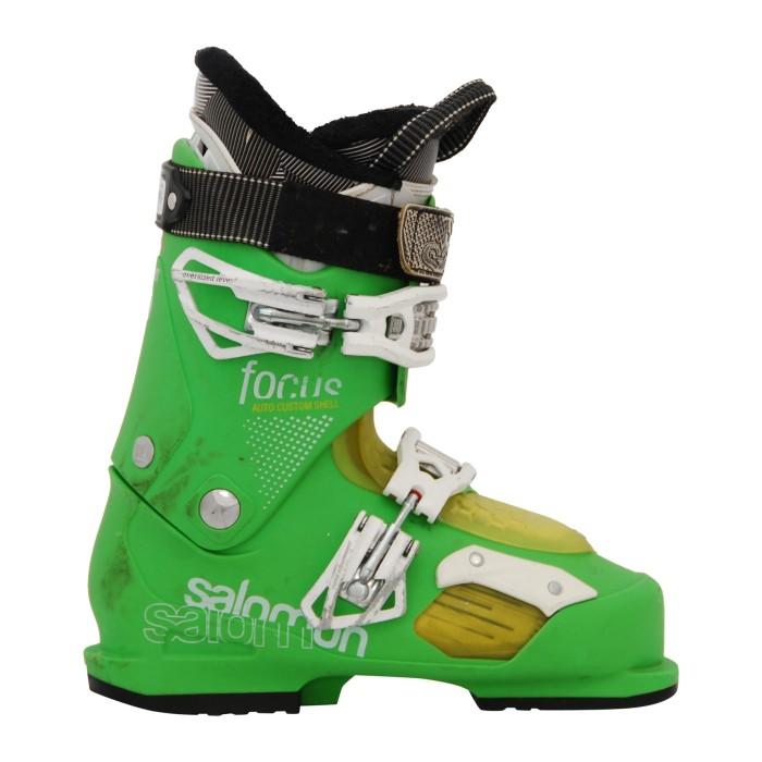 Bota de esquí usada Salomon focus verde