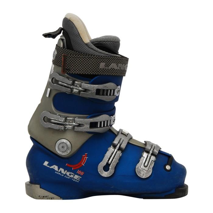 Chaussure de ski occasion Lange comp 100 bleu gris