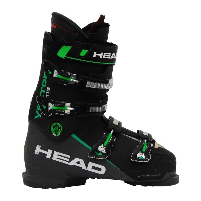 Head Vector evo 115 botas de esquí usadas en negro/verde