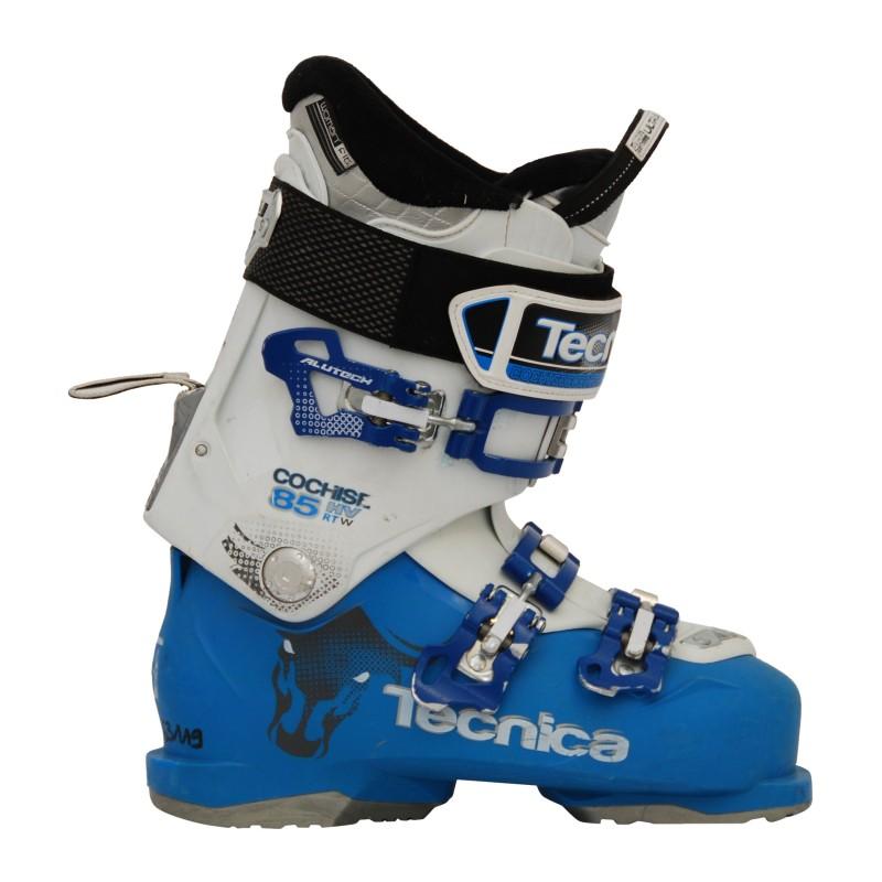 Chaussure de ski occasion Tecnica Cochise 85 HV RT w blanc bleu qualité A