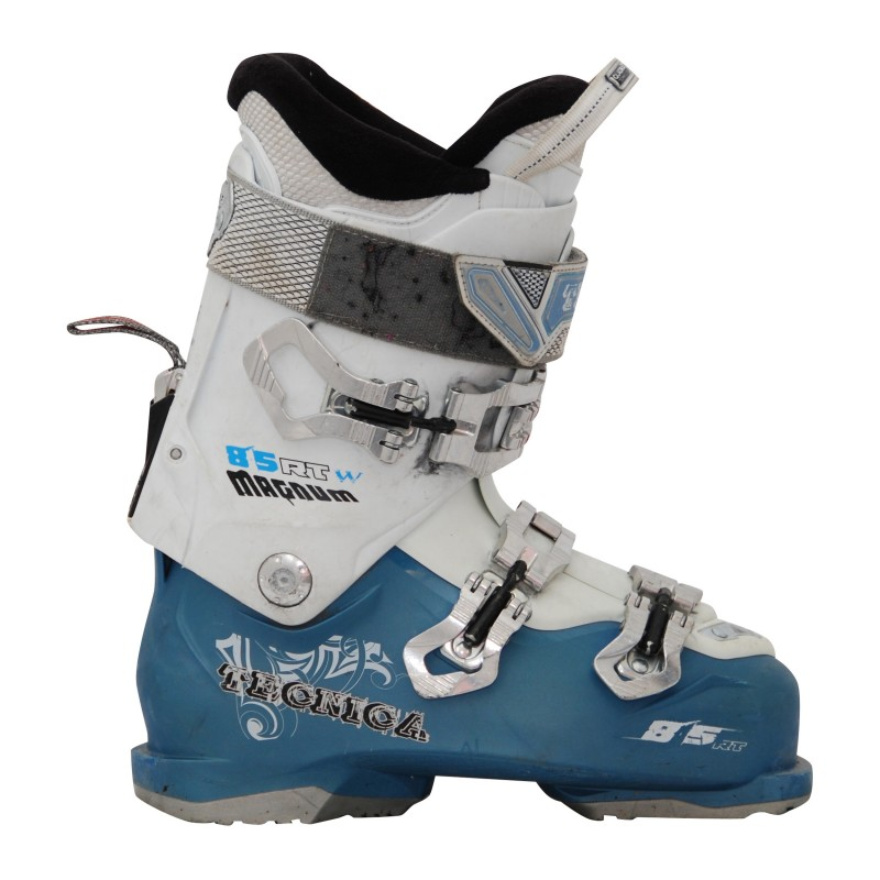 Chaussures de ski occasion Tecnica magnum 85 rt blanc/bleu qualité A
