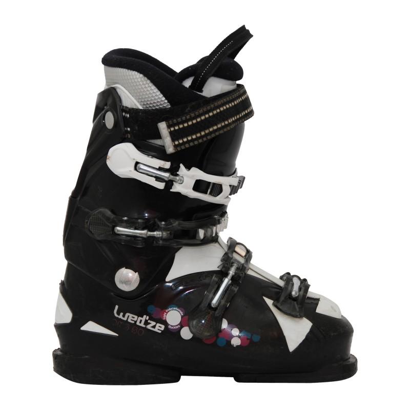 wed'ze aluminum 10 black ski boot