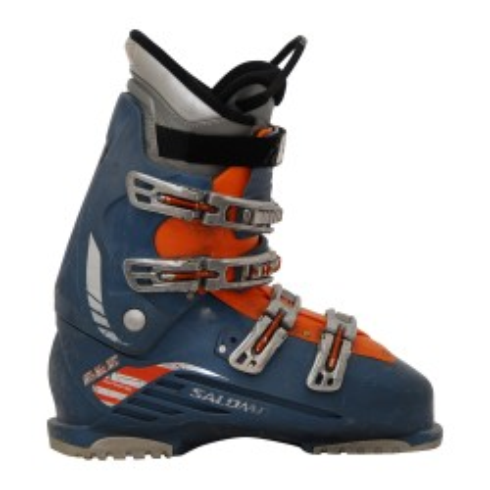 Bota de esquí usada Salomon realiza 660 naranja azul
