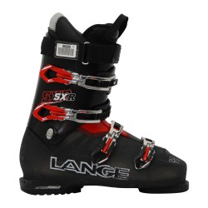 Ski usado Zapato de esquí Lange SXR negro rojo